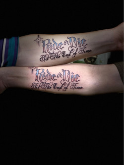Ride or die til the end of time tattoo