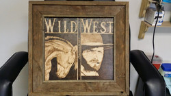wood burning of Client Eastwood