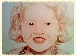 portrait of girl wood burned
