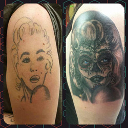 Marilyn Monroe cover up tattoo