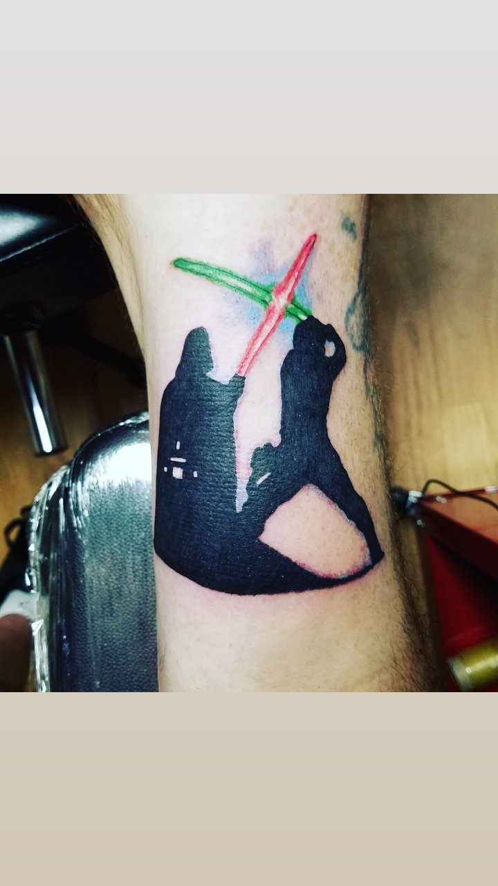 star wars Darth Vador tattoo