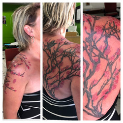 amazing cherry blossom tattoo