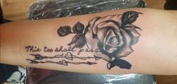 this to shall pass rose tattoo