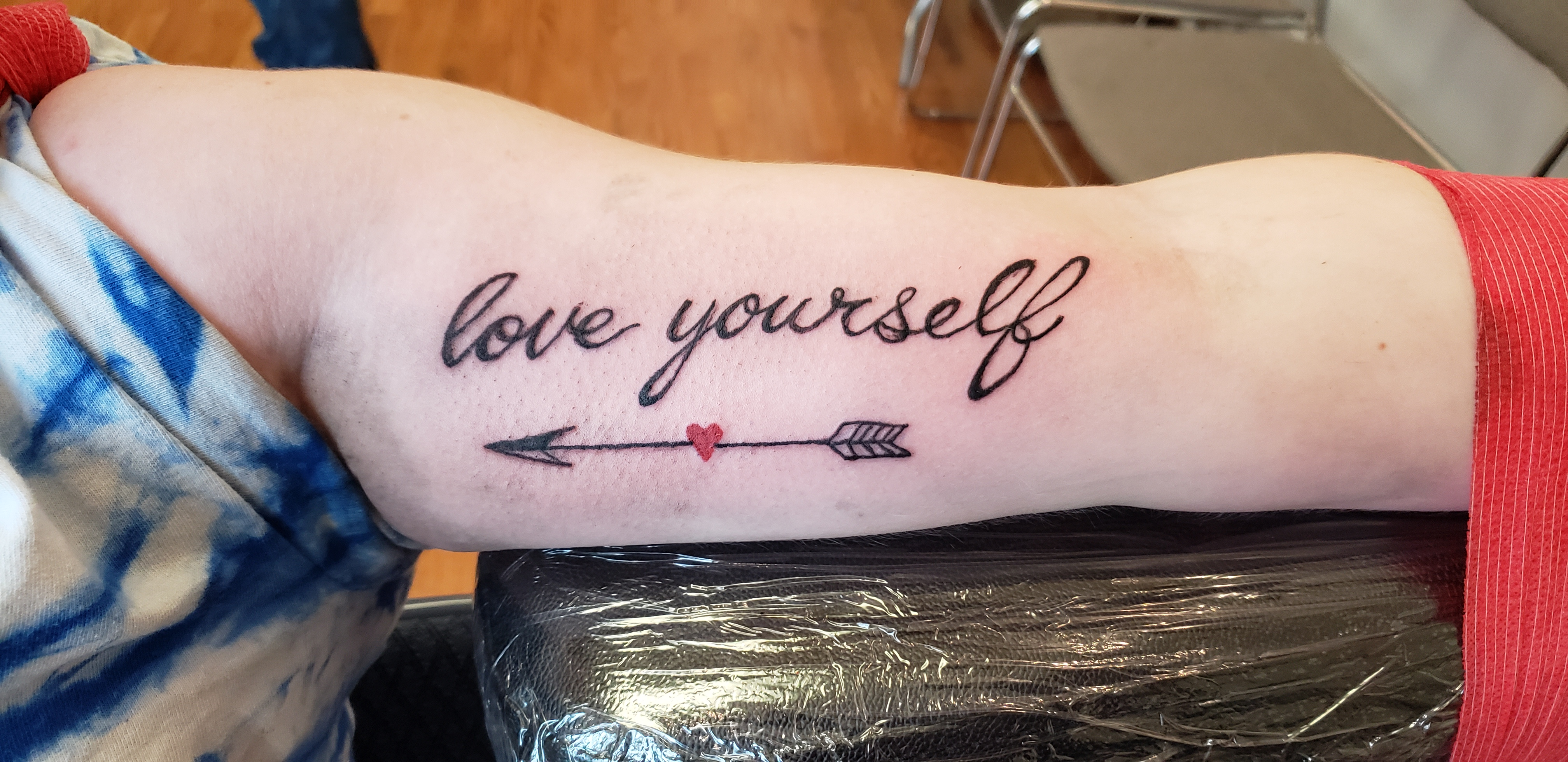 love yourself tattoo design