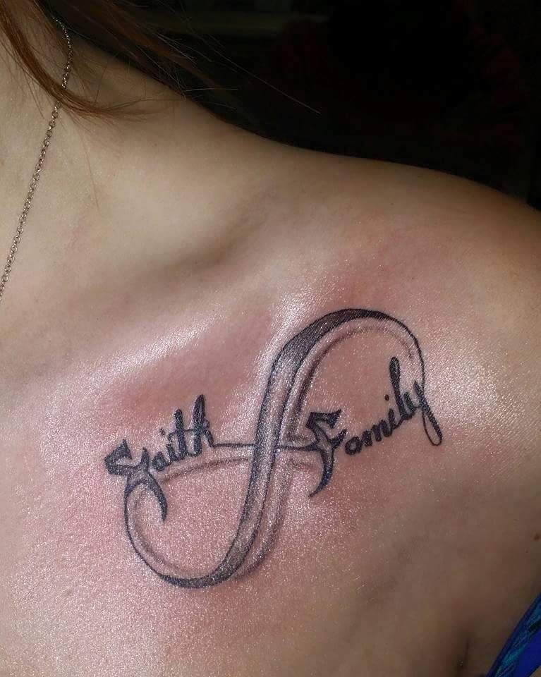 faith and family infinity tattoo