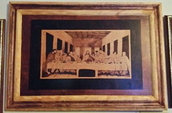 wood burning of the Last Supper