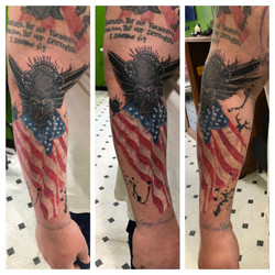 American flag Cover up tattoo