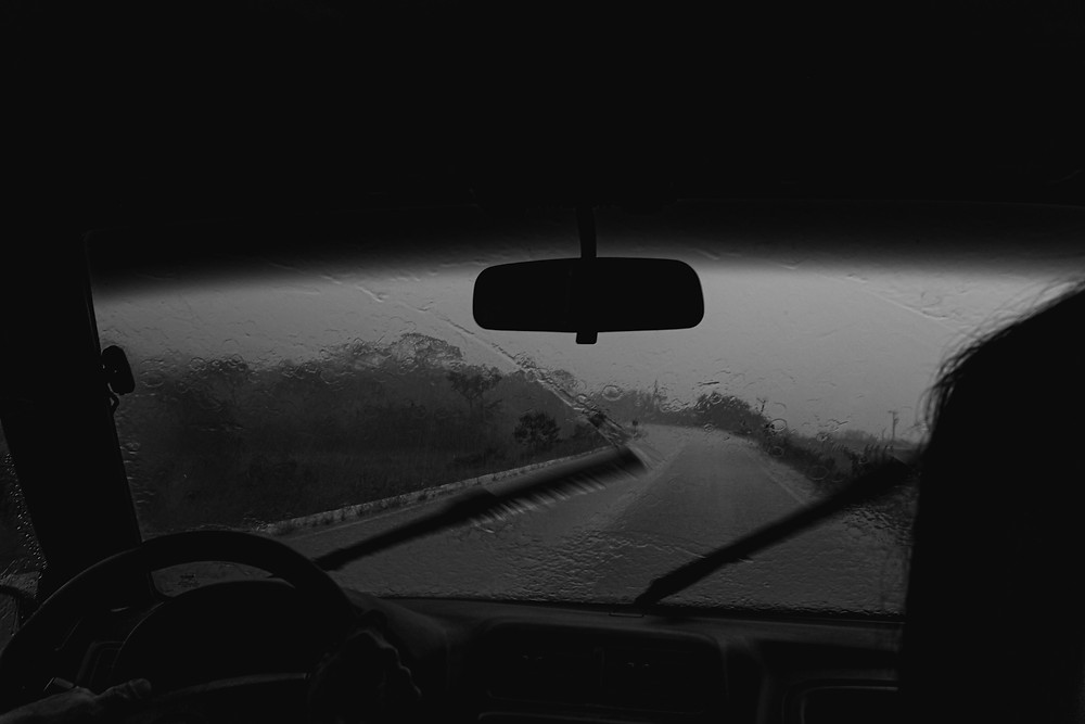 windshield wipers on a rainy day