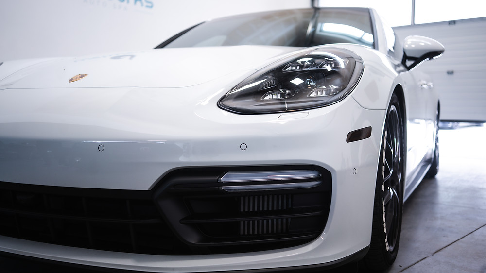 White Porsche | Ceramic Coating vs. Paint Protection Film (PPF) - Wetwerks Auto Spa Vancouver