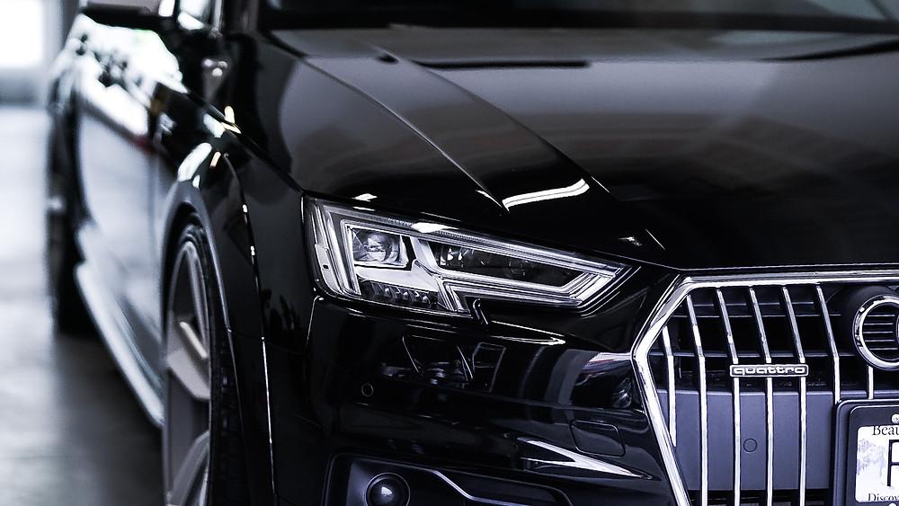 Auto Detailing on black Audi by Wetwerks Autospa