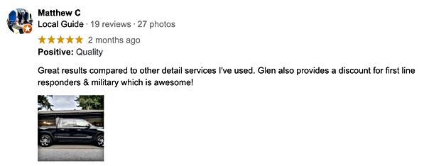 Wetwerks Auto Spa - Google Review - Matt