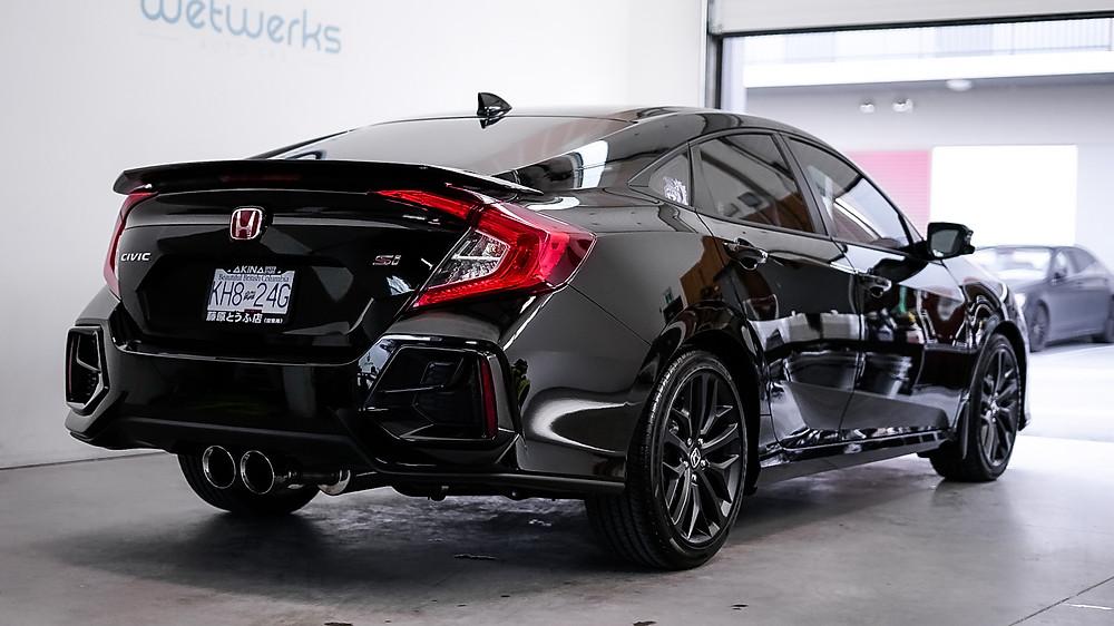 Auto Detail on Back Honda Civic Si to bring back the showroom shine