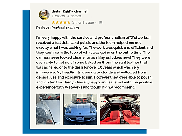 Wetwerks Auto Spa | Customer Review
