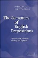 The Semantics of English Prepositions | Vyvyan Evans
