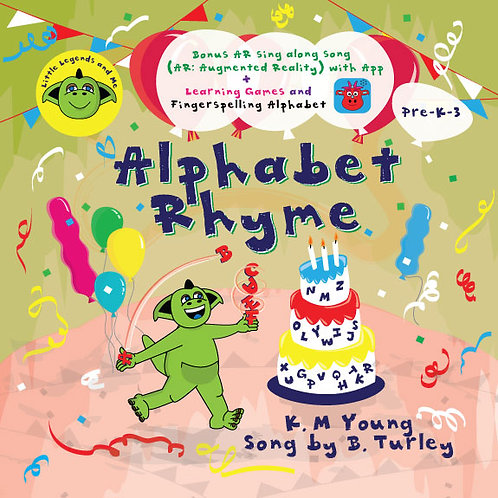 The Alphabet Rhyme (Augmented Reality) Book with Audio