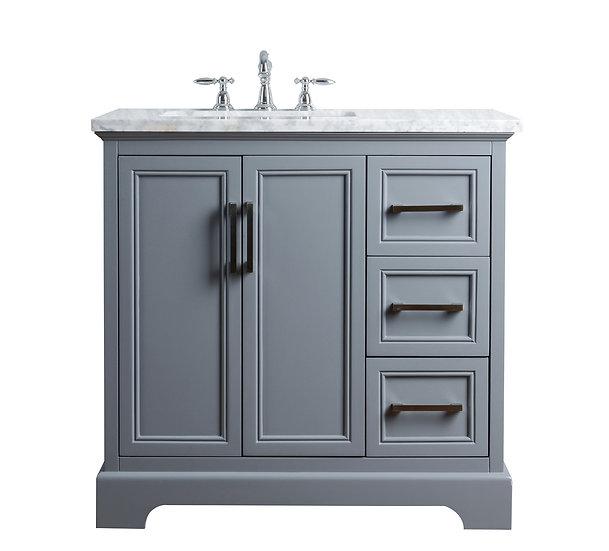 "Ariane 36"" Slate Gray Single Vanity Single Sink"