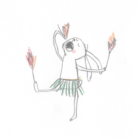 Fire eating rabbit