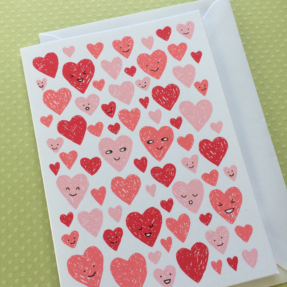 Red and Pink Hearts
