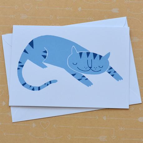 Blue Stripe Cat