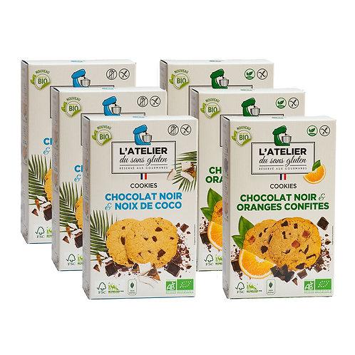 Epris de fruits - Lot de 6 boites mixées cookies sans lactose