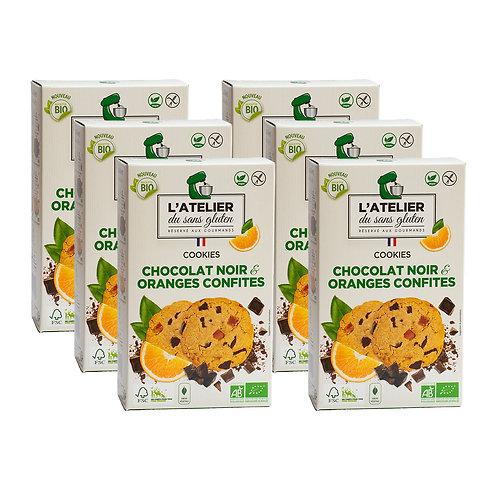 Vegan Lover - Lot de 6 boites chocolat noir/oranges VEGAN