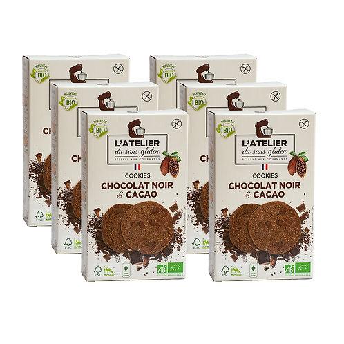 Gaga de chocolat - Lot de 6 boites chocolat noir/cacao