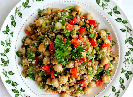 Bulgur Salad with Chick Peas (Garbanzos)