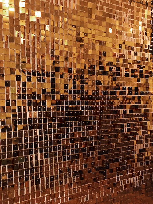 Gold sequin panel