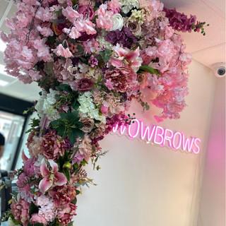 artificial flower installation