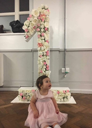 4ft number hire, floral numbers