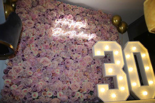 flower wall hire kent