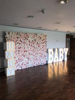 flowerwall baby shower
