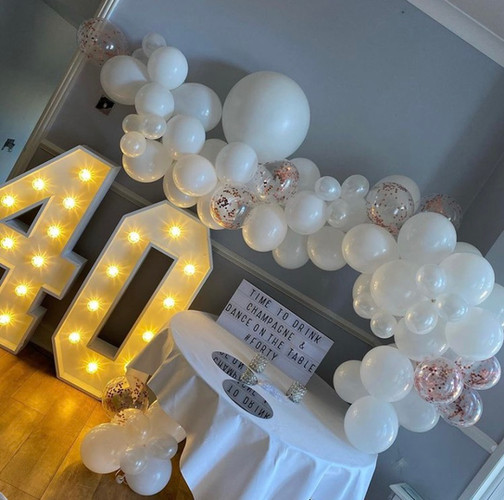light up number hire kent
