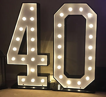 4ft LED light up letters for hire