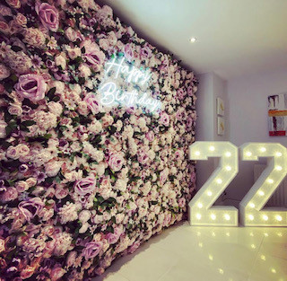 flower wall hire london