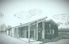 Esquisse avec ABC Archimédia Bati Concept construction de maison Biscarrosse