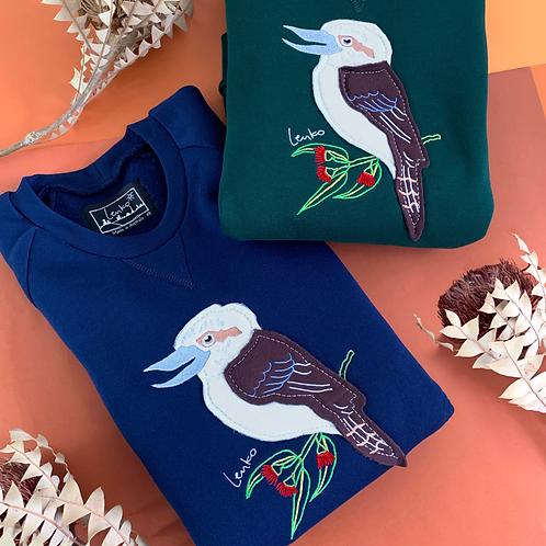 Lenko kookaburra sweaters flatly