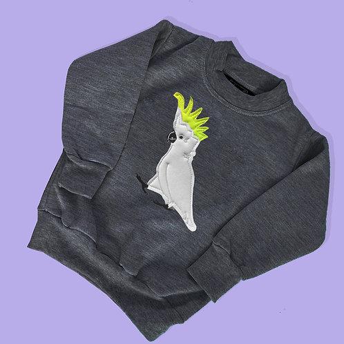 Kid's Animal Sweater- Cockatoo