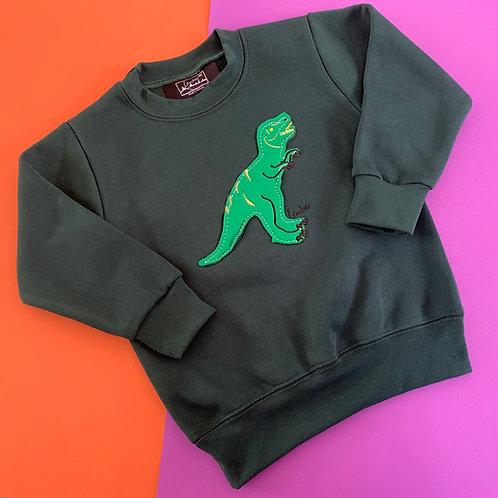 Kid's Animal Sweater- T-Rex