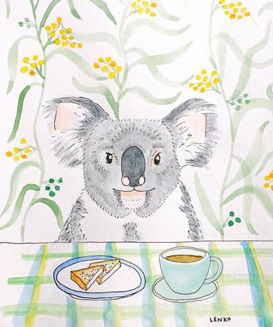 Bushfire Fundraiser Animals Eating Food Colouring Book