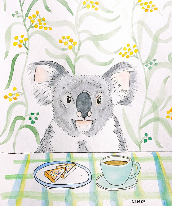 Bushfire Fundraiser- Colouring Book: Animals Eating Food