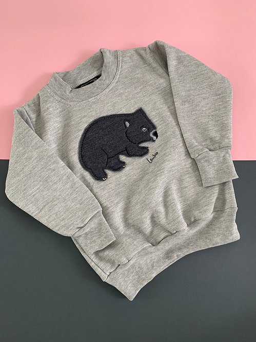 Kid's Animal Sweater- Wombat