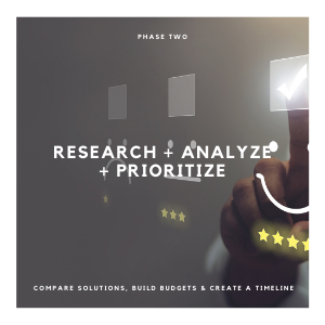 PHASE TWO - RESEARCH ANALYZE & PRIORITIZE