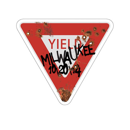 Yield Rust Kiss-Cut Stickers