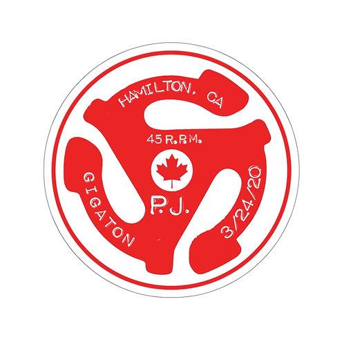Hamilton 45rpm Kiss-Cut Stickers