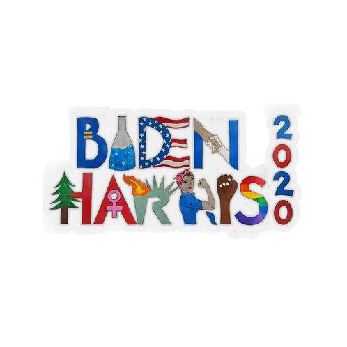 Biden/ Harris Kiss-Cut Stickers