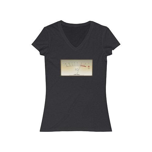 Fuck Off Meter Women's Jersey Short Sleeve V-Neck Tee