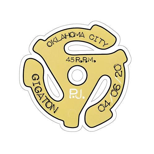 OKC 45rpm Kiss-Cut Stickers