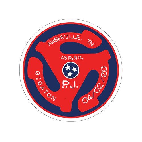 Nashville 45rpm Kiss-Cut Stickers
