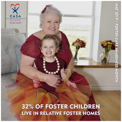 32% of foster children
